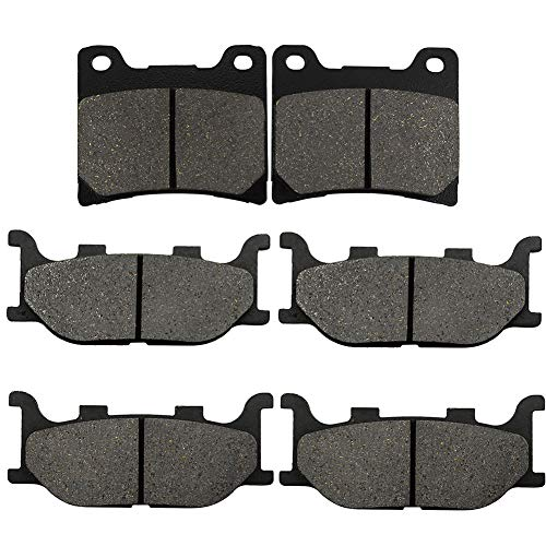 Yerbay Compatible Motorcycle Front and Rear Brake Pads for Yamaha V-Star 1100 XVS1100 Custom Classic...