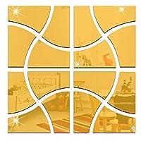 16枚 貼る鏡 Diy鏡 枠無し幾何学的図形壁掛け インテリア 鏡効果家の寝室の廊下の装飾のため