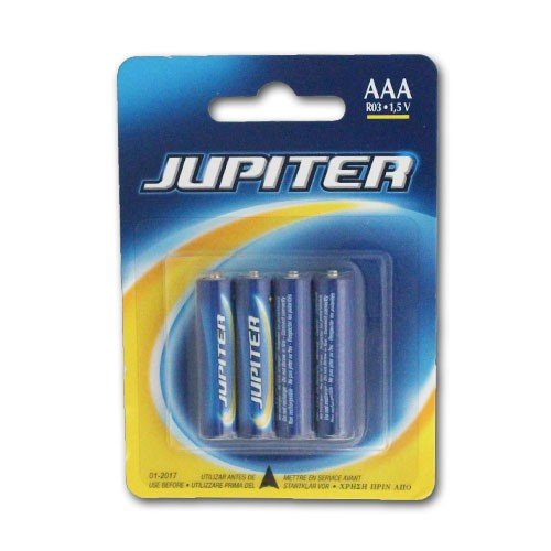 Jupiter Pila Salina R03-aaa Blister 4 Unidades