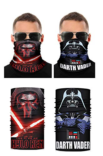 Kylo Ren Darth Vader Bandanas Face Mask Seamless Neck Gaiters for Men Women