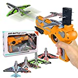 Airplane Toy, Bubble Catapult Plane Toy Airplane, Outdoor Toys for Kids, Outdoor Toy with 4 Pcs Glider Foam Plane, One-Click Ejection Model Airplane Shooting Launcher Toys for Kids Birthday Party