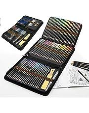 Zestaw kolorowych kredek dla dorosłych i dzieci, 96 sztuk, profesjonalny zestaw do rysowania, akwarelowe kredki grafitowe, idealne do kreatywnego malowania akwarelowego