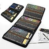 Set di 96 Matite Colorate Acquerellabili e Matite di Disegno Artistico, Ideali per Colorare Disegni, Fumetti e Manga, Per Adulti, Bambini, Professionisti e Principianti