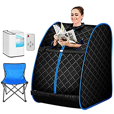 Himimi 2L Foldable Steam Sauna Portable Indoor Home Spa Weight Loss Detox with Chair Remote