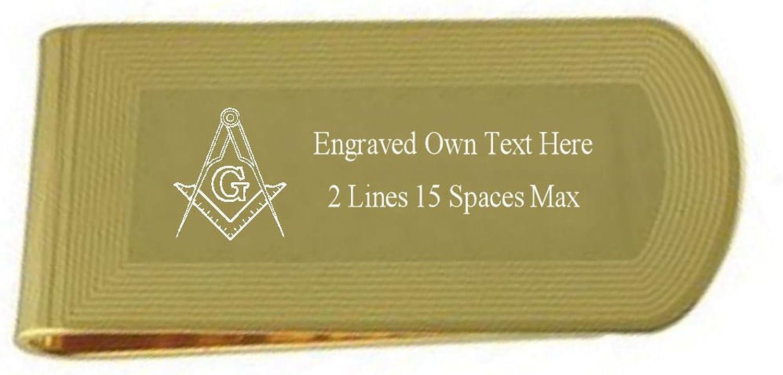 Select Gifts Kompass Set Square Gold Gravur Freimaurer Geld Clip mit Gravierten Schatulle B06XVG4WHK