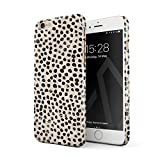 BURGA Phone Case Compatible with iPhone 6 Plus / 6s Plus - Black Polks Dots Pattern Nude Almond Latte Fashion Cute for Girls Thin Design Durable Hard Shell Plastic Protective Case