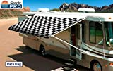 Shade Pro RV Vinyl Awning Replacement Fabric - Checkered Flag 19' (Fabric 18'2')