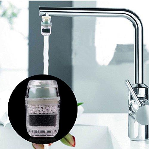 Aktivkohlefilter für Wasserhahn, Kohlefilter, für Zuhause, Küche, Haushalt, Wasser, Reiniger, Filter Free Size Wie abgebildet