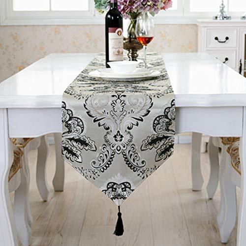 JKHOIUH Mantel bordado decoración del hogar rectángulo mesa bandera decoración mantel aplicar a la decoración de la familia de impresión Durable de alta calidad moderna (Color : A2)