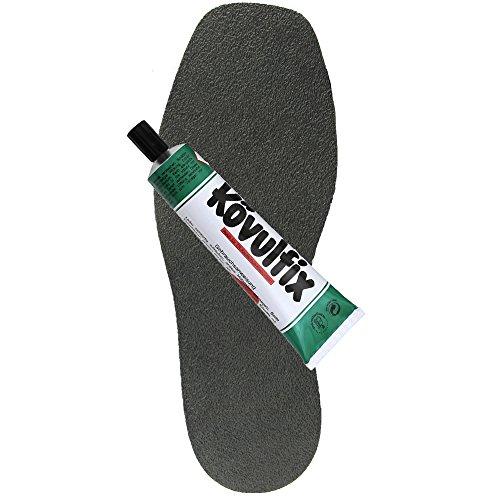 Schuhreparatur Speckgummi schwarz Langsohle + Tube 60gr. Kövulfix Schuhsohlenkleber Crepe