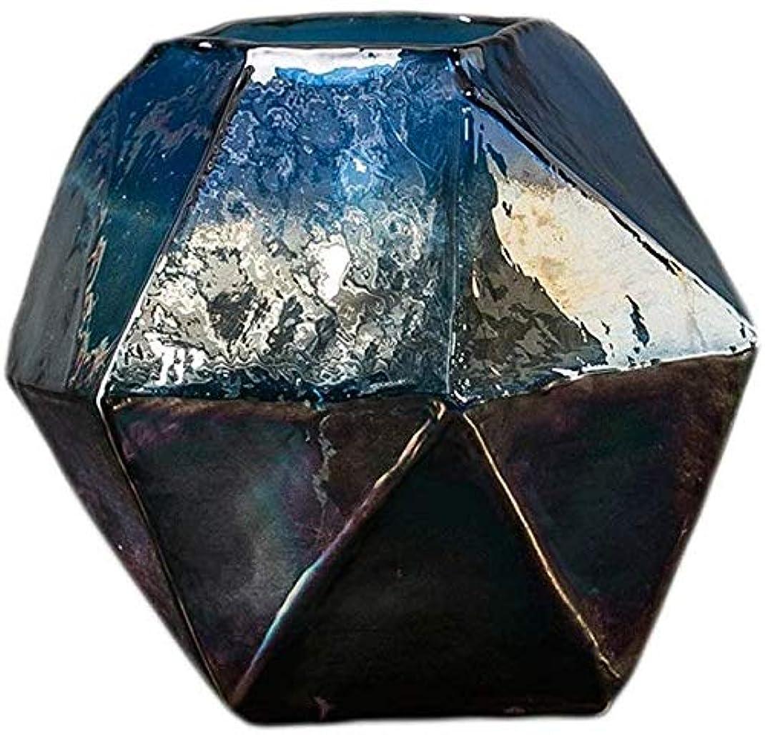 誓約かまどベール花器 花瓶透明なガラスのフラワーアレンジメントホームデコレーションリビングルームの植物の花の大12.5 * 12.5センチメートル 花瓶 (Size : B:16CM*14CM)