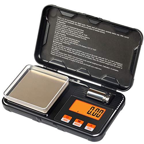 MAVL 200G x 0.01g gram Scale con tamaño de Bolsillo, Escala de nutrición de Alimentos Inteligentes, Gramos Digitales y onzas para la pérdida de Peso, Hornear, cocinar, ceto y preparación de Comidas
