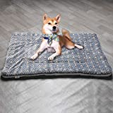 YORKING Large Indestructible Dog Bed Warm Plush Cushion Sleep Mat for Kennel Crate XL for Large...