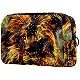 Bolsa de cosméticos de viaje de 18,5 x 7,6 x 13 cm, bolsas de maquillaje de león Masai, bolsas de cosméticos de viaje, bolsa de cepillo de PVC para cosméticos