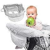 IWILCS Einkaufswagen Schutz,Baby Einkaufswagen Abdeckung,Baby Einkaufswagenschutz,Einkaufswagen Und Hochstuhl Bietet Für Babys Oder Kleinkinder, Grau
