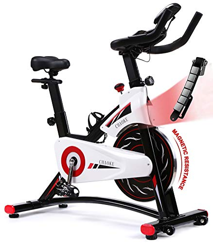 Exercise Bike, CHAOKE Indoor Cycling Bike, Stationary Bike for Home Cardio Workout with Whisper...