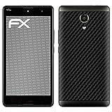 atFolix Skin kompatibel mit Wiko Robby, Designfolie Sticker (FX-Carbon-Black), Carbon-Struktur/Carbon-Folie