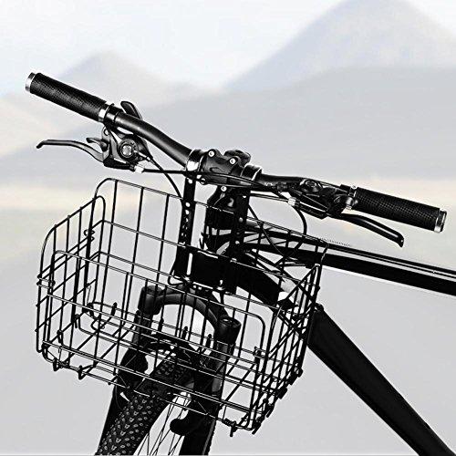 Funihut Fietsmand, opvouwbaar, achter, traliewerk van metaal, vooraan inklapbaar, afneembaar, voor fiets, bagagedrager