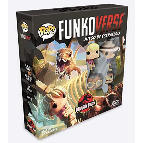 Funko - Pop Funkoverse 100-Base (Spanish) Jurassic Park Board Game, Multicolore (47122)
