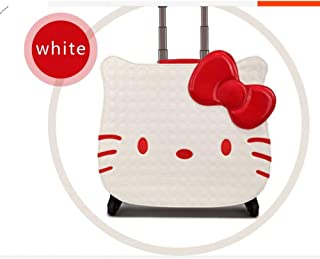 LHKFNU NEW women Girl kids trolley cases luggage uniersal wheels Swivel Casters 3D travel suitcase bag