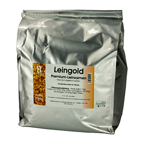 Natusat Leingold 5000 g - Leinsamen - Pferdeverdauung - Pferdedarmflora