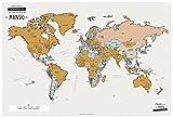 Enjoy Maps World Mapa Diseñada con Tinta Rascable, Papel, Multicolor, 65 x 45 cm