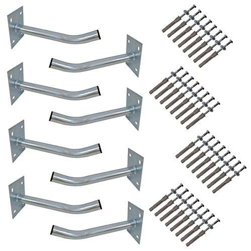 PremiumX 8X Autoreifen Wandhalter 35 cm Reifenhalter für Felgen Halterung