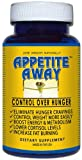 Appetite Away Hunger Suppressant Bottle (30 Capsules) by 4 Organics - All Natural Diet Pill for Weight Loss - No Jitters - Satisfaction Guarantee