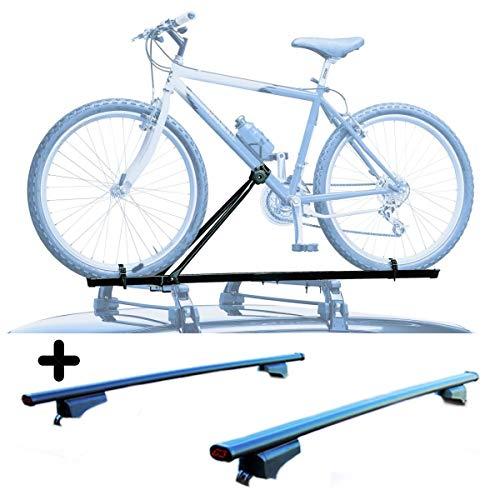 PROPOSTEONLINE Portabici per Tetto Auto Compatibile per Ford C-Max 5p (2010-2014) Porta Biciclette Universale in Acciaio Incluso di Barre Portatutto