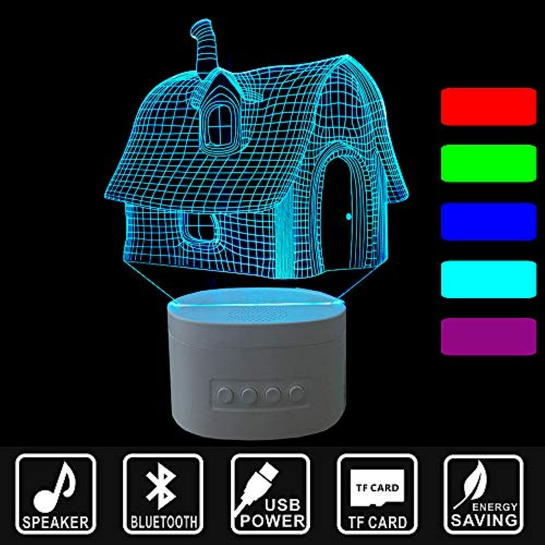 LDAKLE 3D Lichter Blautooth Lautsprecher Musik Led Nachtlichter Beleuchtung Nach HauseUSB Wiederaufladbare Tischlampen Haus Form
