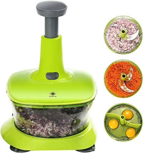 Kalokelvin Gemüseschneider, Zwiebel Zerkleiner/Multizerkleinerer für Obst, Gemüse, Kräuter, Zwiebeln für Salsa, Salat, Pesto, Hummus, Guacamole, Krautsalat, Püree
