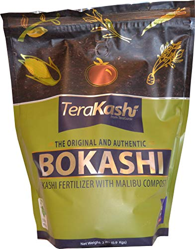 TeraKashi Bokashi with Malibu Compost & Organic Rice Bran Mix 2 lbs | Dry Powder to Compost Food & Pet Waste Indoors Outdoors for Better Planting Soil | Recycling | Odor Control | Oil Spill Clean-Up