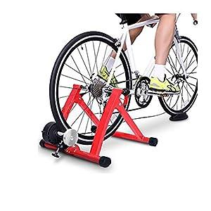 Wonduu Rodillo De Entrenamiento En Interior para Bicicleta Mt-01 Rojo con Cable