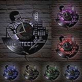 XYVXJ Reloj de Pared con Registro LP de Vinilo de medición de...