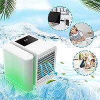 冷風機 冷風扇 小型 ポータブルエアクーラー多機能冷凍加湿および精製1000 ml水容量タッチスクリーン99速度調整USB