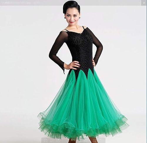 ZHANGQIAN Robes de Bal de Bal des finissants - Danse Moderne Valse Lisse Parti de Tango Latin Swing Concurrence Danse vêteHommests Jupe Robe Costumes