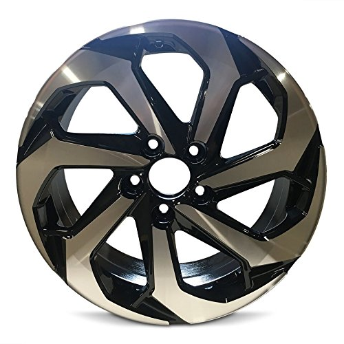 Road Ready Car Wheel For 2016-2017 Honda Accord 17 Inch 5 Lug Black Machine Face (Diamond Cut) Aluminum Rim Fits R17 Tire - Exact OEM Replacement - Full-Size Spare