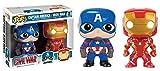 Funko 599386031 - Figura capitán amárica Civil War Iron Man + capitán amárica