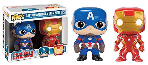 Funko 599386031 - Figura capitan amarica Civil War Iron Man + capitan amarica