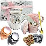 Pregnancy Gifts for First Time Moms – Mom and Dad Est 2022 14 oz Mug Set – Baby Shower Gender Reveal Top Mom and Dad Gift Set