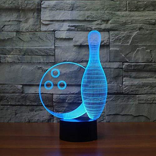 hqhqhq Bowlingkugel 3D-Licht LED-Tischlampe Optische Täuschung Bulbing Nachtlicht 16 Farben Stimmungsänderung Lampe USB-Lampe Mit Fernbedienung -1314