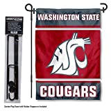College Flags & Banners Co. Washington State Cougars Garden Flag with Stand Holder