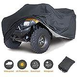 Szblnsm ATV Cover. 420D Heavy Duty Tear-Resistant Fabric. Quad Cover for Kawasaki, Arctic Cat, Honda, Polaris,Yamaha, and More. Protection Against Water, Wind, UV. 4 Wheeler Accessories