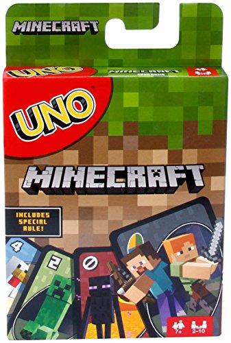 Ora gli amanti di Minecraft possono giocare una versione speciale di UNO! Come UNO di base ma con personaggi Minecraft e include una speciale carta Regola Creeper. Disegna questa carta e gli altri giocatori devono pescare altre tre carte dalla pila! ...