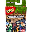 Mattel Games UNO Minecraft Card Game, Now UNO fun includes the world of Minecraft!, Multicolor, Basic Pack