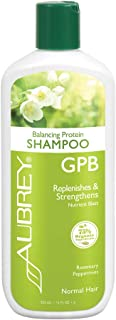Aubrey GPB Rosemary Peppermint Shampoo   Replenishes, Strengthens & Nourishes Damaged Hair   Aloe & Shea Butter   75% Organic Ingredients   11oz