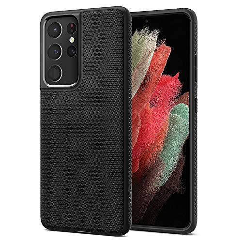 Spigen Liquid Air Hülle Kompatibel mit Samsung Galaxy S21 Ultra -Schwarz