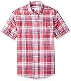 Amazon Essentials Men's Slim-Fit Short-Sleeve Plaid...