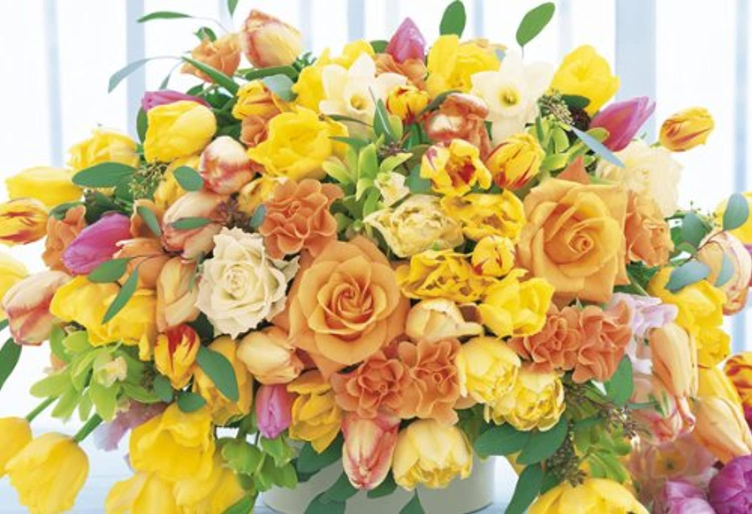 The  Yellow 08037 raise the Tatsujin 450 Small piece Flower good luck power of puzzle (japan import)