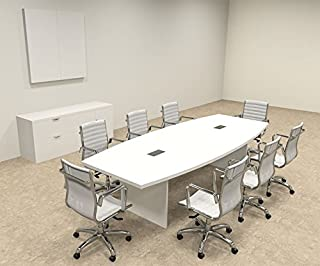 Modern Boat shaped 10' Feet Conference Table, OF-CON-C122